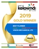 Best of Kelowna 2019 Gold Winner - Vision Mechanical - Best Plumber