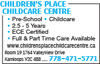 Children's Place Childcare Centre