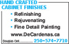 Hand Crafted Cabinet Finishes