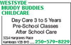 Westsyde Muddy Buddies Childcare