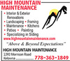 High Mountain Maintenance
