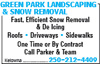 Green Park Landscaping & Snow Removal