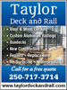 Taylor Deck and Rail