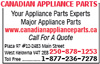Canadian Appliance Parts