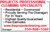 Projects Professional Cleaning Specialists