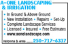 A-One Landscaping & Irrigation
