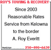 Roy's Towing & Recovery