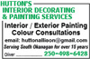 Hutton's Interior Decorating & Painting Services