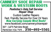 Cannery Shoe Repair Work & Western Boots