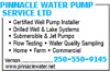 Pinnacle Water Pump Service Ltd
