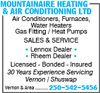 Mountainaire Heating & Air Conditioning Ltd
