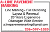 A-line Pavement Marking