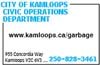City Of Kamloops Civic Operations Department