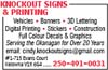 Knockout Signs & Printing