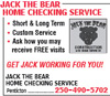 Jack The Bear Home Checking Service