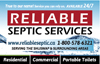 Reliable Septic Services Inc