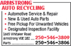 Armstrong Auto Recycling
