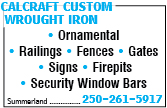 Calcraft Custom Wrought Iron