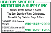Healthy Spot Pet Nutrition & Supply Inc