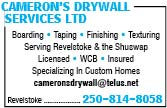 Cameron's Drywall Services - Rev