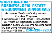Worthington Business Real Estate & Equipment Appraisals