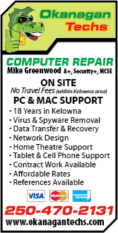 Okanagan Techs Computer Repair
