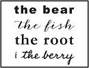 Bear Fish Root Berry Logo