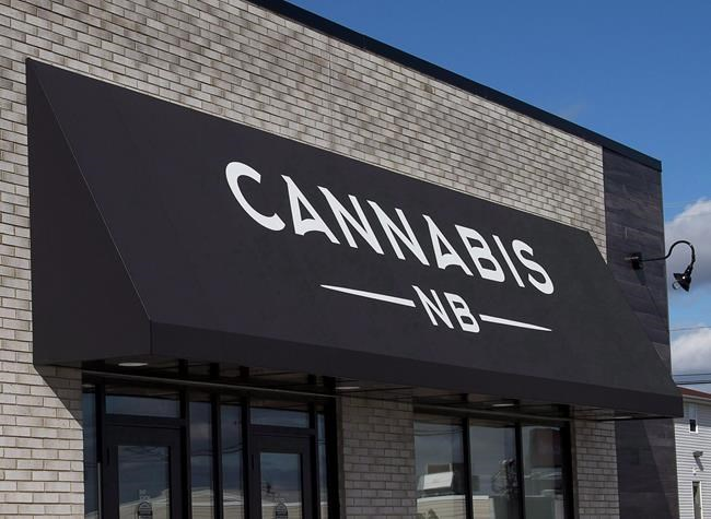 A Cannabis NB retail store in Sackville, N.B. is seen on Sunday, Oct. 14, 2018. THE CANADIAN PRESS/Andrew Vaughan
