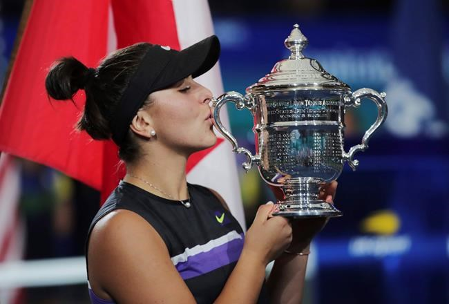 CP NewsAlert: Andreescu named The Canadian Press female athlete of the year