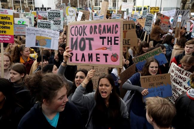 The Latest: 16 arrested at NYC student climate protest - InfoNews