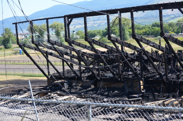 The Kin Race Track grandstands were destroyed by fire July 9, 2014.