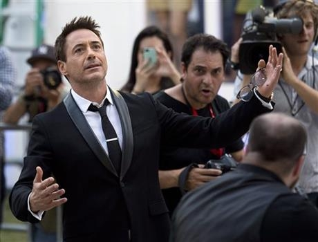 Robert Downey Jr. arrives for the premiere of his film,