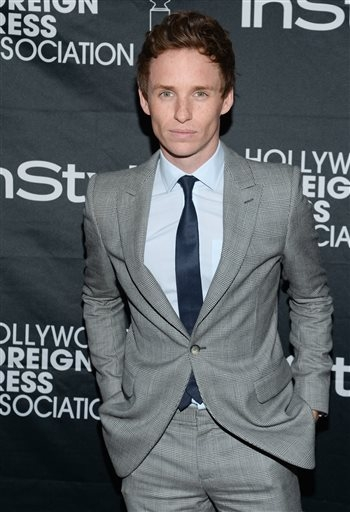 Actor Eddie Redmayne at TIFF on Saturday, Sept. 6, 2014, in Toronto.