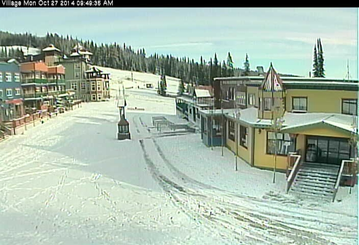 The view of Silver Star Village from the Silver Star Mountain Resort webcam on Monday, Oct. 27, 2014.