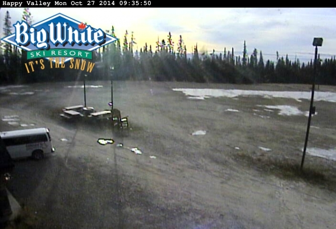 The view from the webcam at Big White Ski Resort on Monday, Oct. 27, 2014.
