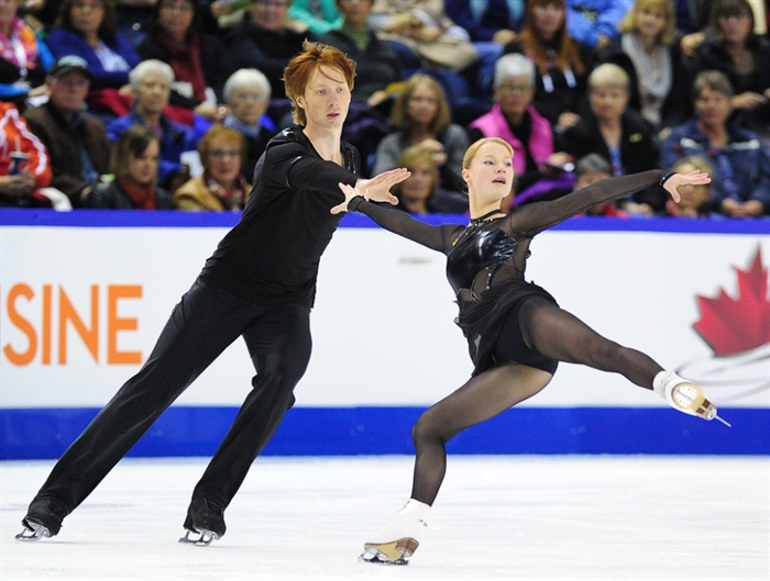 Russians Evgenia Tarasova and Vladimir Morozov