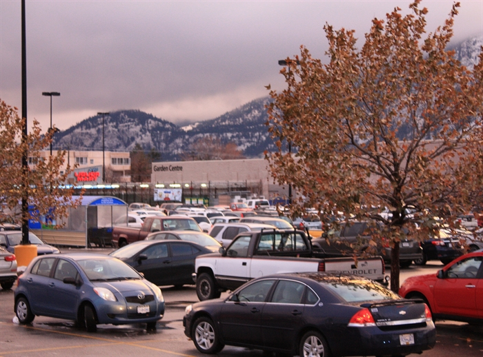 It's not really Christmas in Penticton until every square inch of the mall parking lot is occupied.