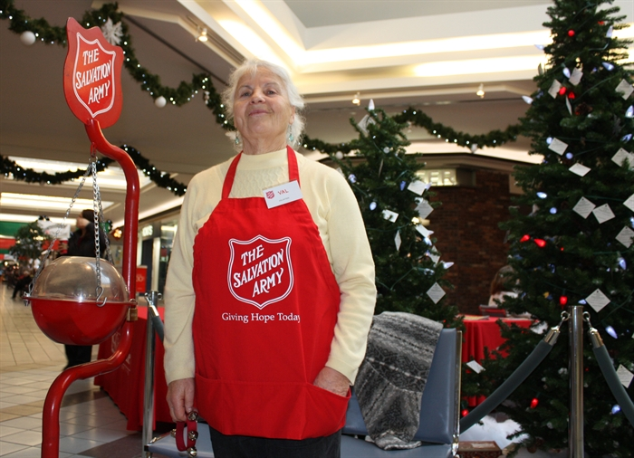 It's  not really Christmas in Penticton until you throw some change into a Salvation Army kettle.