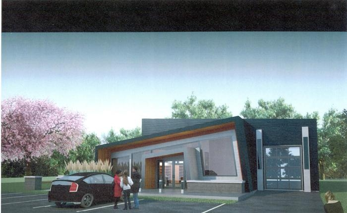 An artist's rendition of what the new Lake Country Food Bank will look like.