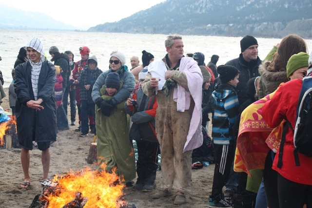 Summerland Polar Bear Swim, Thursday, Jan. 1, 2015.
