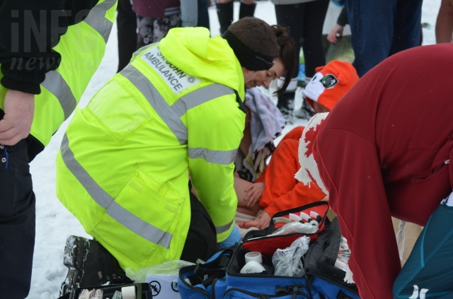 Paramedics were there making sure everyone was safe.