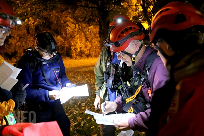 Search and rescue volunteers spend many hours training.