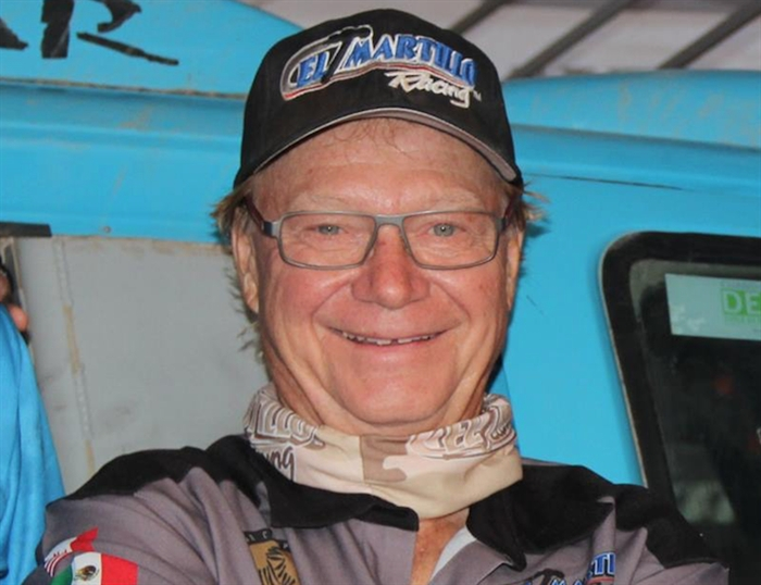 Calgary's Matt Campbell, 63, was taking part in a rally in South America when he lost control and tumbled, end over end, January 11, 2015.