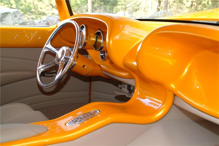 The interior of the JF Launier designed and built 1956 Chrysler named Revolution.