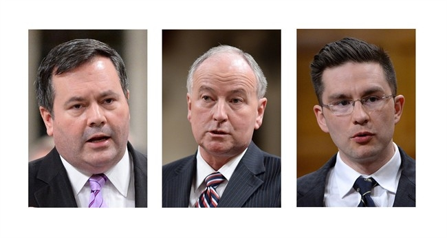Three federal cabinet ministers were given new responsibilities Monday, Feb. 9, 2015 by Prime Minister Stephen Harper in the wake of former foreign affairs minister John Baird's abrupt resignation last week. From left: Jason Kenney, Rob Nicholson and Pierre Poilievre.