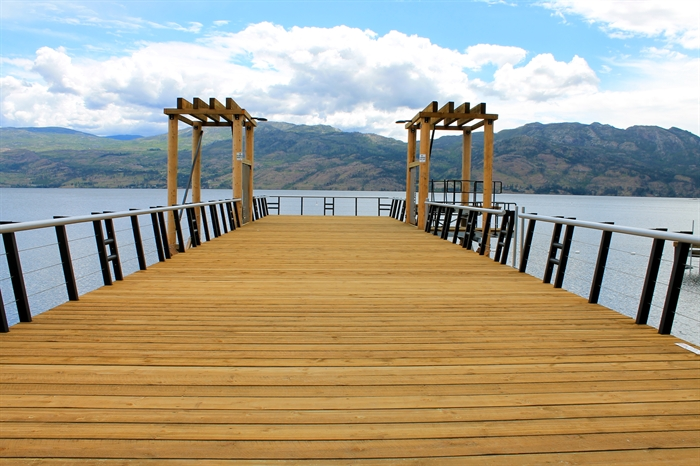 The rebuilt CNR Wharf on Okanagan Lake in West Kelowna.