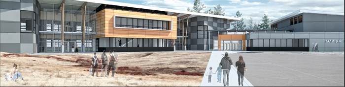 An artist's rendition of Mar Jok Elementary School in West Kelowna.