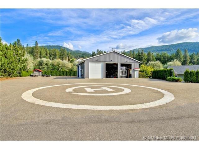 A Vernon property currently on the market for $7.8 million features its own heli pad.