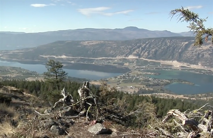 A screen shot of a view of Lake Country from a District promotional video.