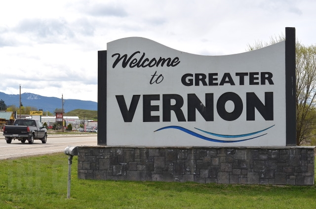 The old Welcome to Greater Vernon sign.